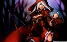 Red Riding Hood Illustration Wallpaper 1080p HD