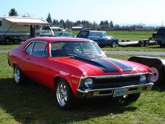 1970 Chevy Nova. Or in Spanish, the Chevy No Go. So much better looking as a 2-door than a 4-door...