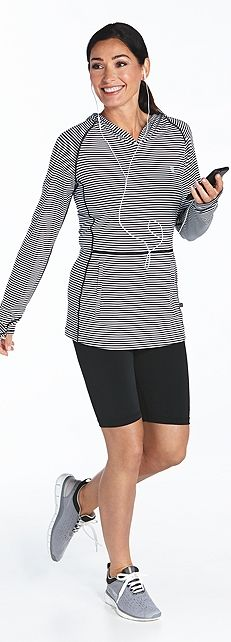 Running Hoodie & Shorts Outfit