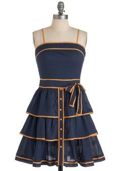 Cute blue and orange dress!
