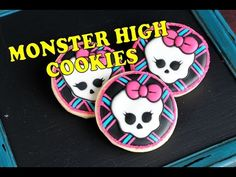 MONSTER HIGH SKULL COOKIES, HANIELA'S - YouTube