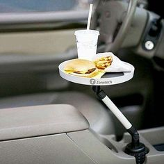 Zone Tech Car Swivel Mount Holder Travel Drink Cup Coffee Table Stand Food Tray