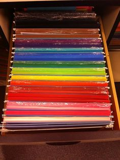 Construction Paper organizing: