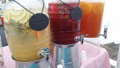 Lemonades. Thyme and peach lemonade, blackberry and sage lemonade ...