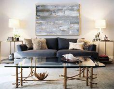 """Resumen oro y gris pintura """"Kingston"""" de diversos tamaños y colores disponibles"""