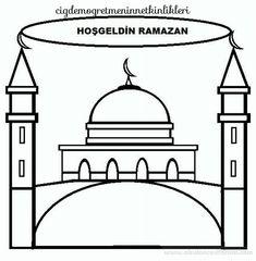 Hoşgeldin Ramazan - New Deko Sites Worksheets For Kids, Activities For Kids, Crafts For Kids, Islam For Kids, Eid Mubarak, Free Coloring Pages, Early Childhood, 1, Education