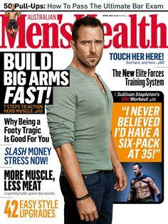 Sullivan Stapleton on the cover of Men's Health Magazine Australia! #300Movie #film