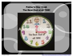 Father's Day Craft - The Best Dad Of All Time by A Thinker's Toolbox