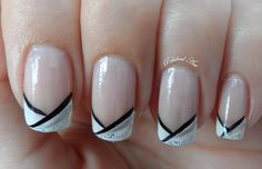 nails for wedding i do | ... , and then nail art pens for the black, silver and glitter lines