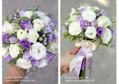 Baiciurina Olga's Design Room: Нежный бело-сиреневый букет невесты-Tender violet&white wedding bouquet