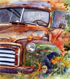 Rusted Jimmy Truck, painting by artist Kay Smith