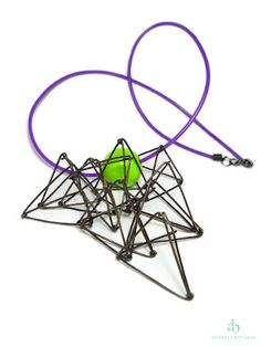 Andreea Bololoi Jewelry: Geometric contemporary necklace made with oxidized copper wire Contemporary Jewellery Designers, Copper Wire, Cool Art, Jewelry Necklaces, Jewelry Making, Jewelry Designer, Outfit, Green, Geometry
