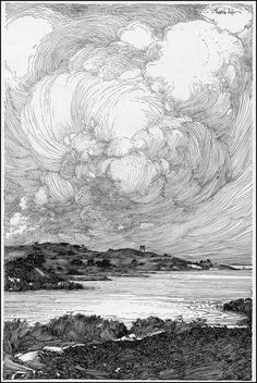 Franklin Booth, (July 1874 – August was an American artist known for his detailed pen-and-ink illustrations. He had a unique illustration styl. Meer Illustration, Gravure Illustration, Ink Illustrations, Engraving Illustration, Pencil Illustration, Kunst Inspo, Art Inspo, Ink Pen Drawings, Ink Pen Art