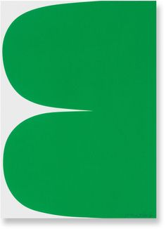 Ellsworth Kelly, Green Curves, 2013, 1-color lithograph 14 × 10 in 35.6 × 25.4 cm Edition of 50