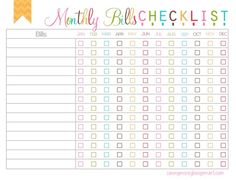 monthly bills checkist free printable watermark will not show on printable
