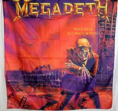 MEGADETH Peace Sells But Who's Buying HUGE 4X4 banner poster tapestry cd album | eBay