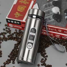 High capacity Business Thermos Mug Stainless Steel Water Bottle – Creationsg Stainless Steel Containers, Stainless Steel Pot, Stainless Steel Water Bottle, Portable Vacuum, Vacuum Flask, Insulated Water Bottle, Tea Mugs, Coffee Cups, Tumbler
