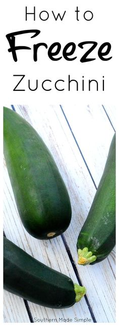 Do you have extra zucchini that you don't know what to do with? Don't throw it away - freeze it and enjoy it later!
