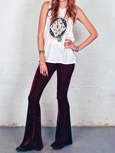 Victoria Velvet Bell Bottoms — Gypsan - Bohemian and Boho Chic Clothing for Women $65
