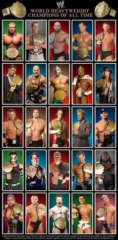 The World Heavyweight Champions of the WWE from 2002 until 2013 when the title was unified with the WWE Championship.