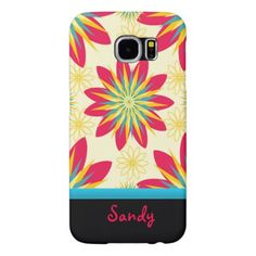 Bloomin' Good Start Floral Personalised Samsung Galaxy S6 Case - gift for her idea diy special unique
