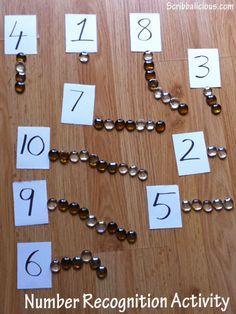 Preschool - Number recognition activity