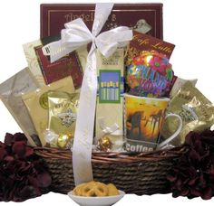 Warm Thanks: Gourmet Coffee Gift Basket Thank You Gift Baskets, Thank You Gifts, Tea Gifts, Coffee Gifts, Coffee Gift Baskets, Latte, Congratulations Gift, Professional Gifts, Appreciation Gifts