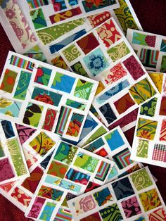 these are cards... but I think they'd make for an AMAZING quilt! Either separately or in individual blocks.