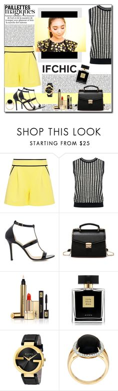 """""""IFCHIC Summer"""" by polybaby ❤ liked on Polyvore featuring Boutique Moschino, O'2nd, Dee Keller, Ultimate, Yves Saint Laurent, Avon, Gucci, summersale and ifchic"""