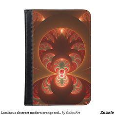 Luminous abstract modern orange red Fractal iPad Mini Case