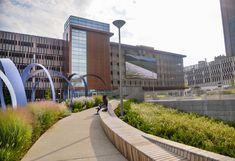 Project Location Toledo, OH End-Client City of Toledo, ProMedica Designer MKSK, HKS #Seating #landscapearchitecture #Toledo #Publicart