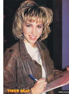I never had a crush on Debbie Gibson but I listened to her music nonstop.. ahhh memories