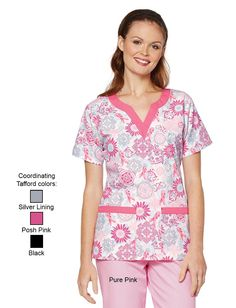 Share Tafford with your friends and receive a promo code for $5 OFF your order! (on qualifying brands) Tafford Stay Strong Sweetheart Neck Scrub Top