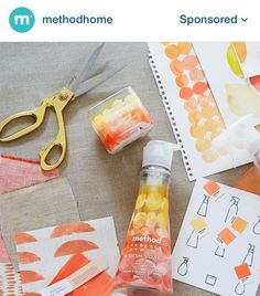 Method home packaging graphics- watercolor- by Brroklyn based designer @rebecca_atwood sold at Target!