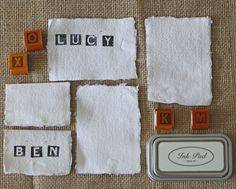 20 handmade paper place cards torn edges by the wedding of my dreams   notonthehighstreet.com