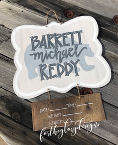 rustic bear // hospital door hanger for boys, gray + brown by fortheglorydesigns on Etsy https://www.etsy.com/listing/534680200/rustic-bear-hospital-door-hanger-for