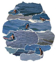 truebluemeandyou: DIY Inspiration: Magazine Ocean Collage. Found this in my archives from July '11. Still love it.