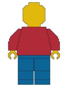 Lego Man Cross Stitch Pattern by SpareTimeCrossStitch on Etsy, $3.00