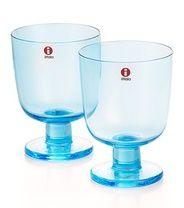 Iittala Lempi-juomalasit, 2 kpl, v.sininen