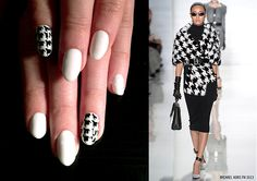 Houndstooth Nails inspired by Michael Kors FW 2013