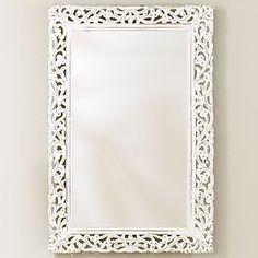 Segovia Whitewashed Mirror   World Market