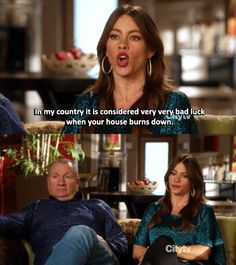 """On cultural customs: 21 Times Gloria From """"Modern Family"""" Spoke The Goddamn Truth Modern Family Gloria, Modern Family Funny, Modern Family Quotes, Best Tv Shows, Best Shows Ever, Favorite Tv Shows, Morden Family, Phil Dunphy, Tv Quotes"""