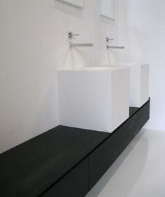 bathroom furniture with corian by Constilo Design
