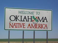 Oklahoma. travel america, nativ american, state sign, oklahoma city, american indian, oklahoma placesivebeen, road sign, usa, thing