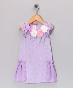 Take a look at this Paulinie Lavender Flower Dress - Toddler & Girls by Paulinie on #zulily today!