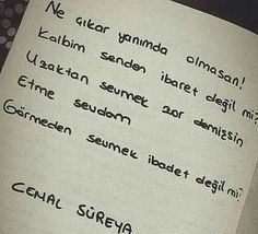 Ben seni görmeden sevdim... Poetry Books, Positive Words, Book Recommendations, Book Quotes, Cool Words, Literature, Lyrics, Wisdom, Positivity