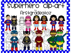 Superhero Clipart.   First Grade A to Z