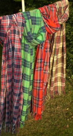 """make your own tartan scarf 2.5yds x 18"""" - I have a ton of Black Watch check in my stash. :D But I really need some Johnston tartan."""