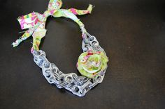 soda pop tab necklace... Alexandra's 100 day project, using 100 tabs