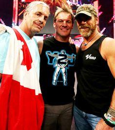 Bret Hart, Chris Jericho, and Shawn Michaels. <3<3<3 Dat beard. >>>>>